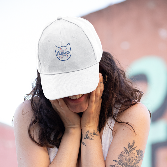 Meowaca Blue Outline Cat Hat
