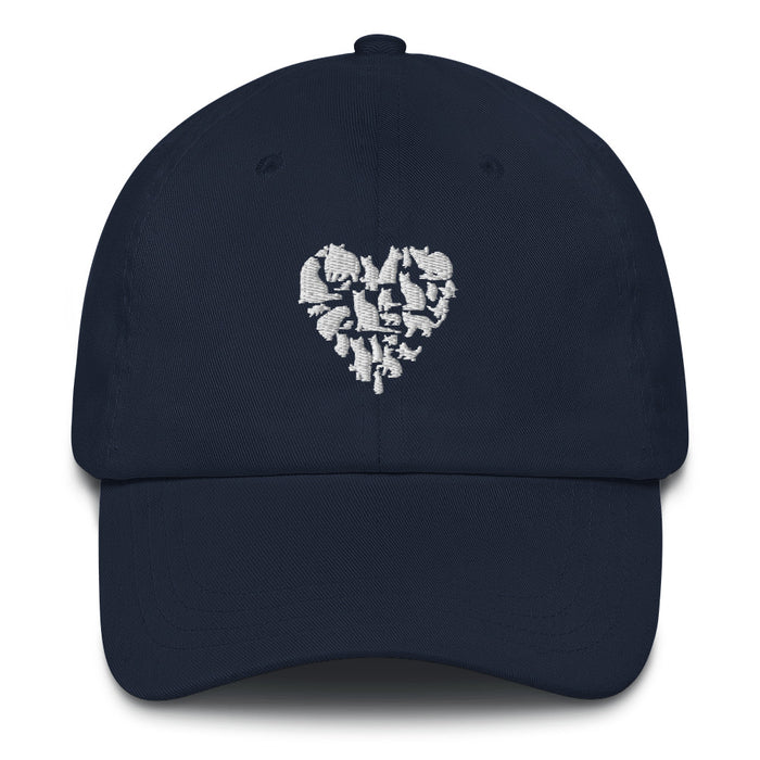 White Heart Full of Cats Hat-HappyFriendy