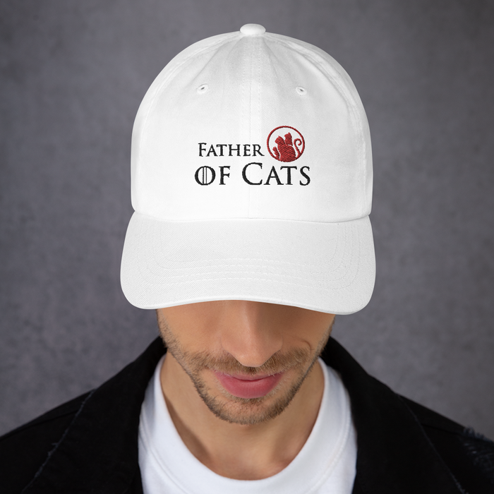 Father of Cats Hat - Black Lettering-HappyFriendy