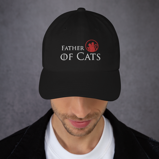 Father of Cats Hat - White Lettering
