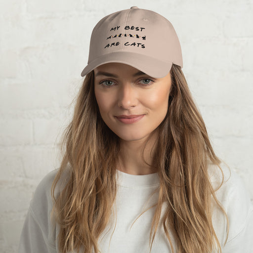 My Best Friends Are Cats Hat - Black Lettering