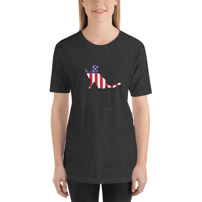 Stripes and Stars Cat US Independence Tee