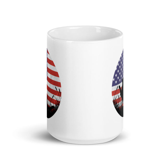 US Flag Cat Silhouette Mug-HappyFriendy