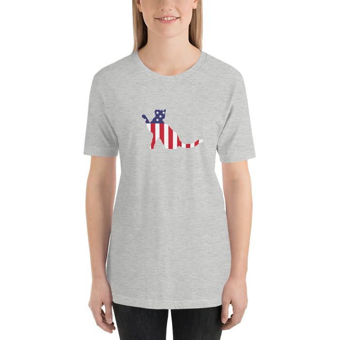 Stripes and Stars Cat US Independence Tee-HappyFriendy