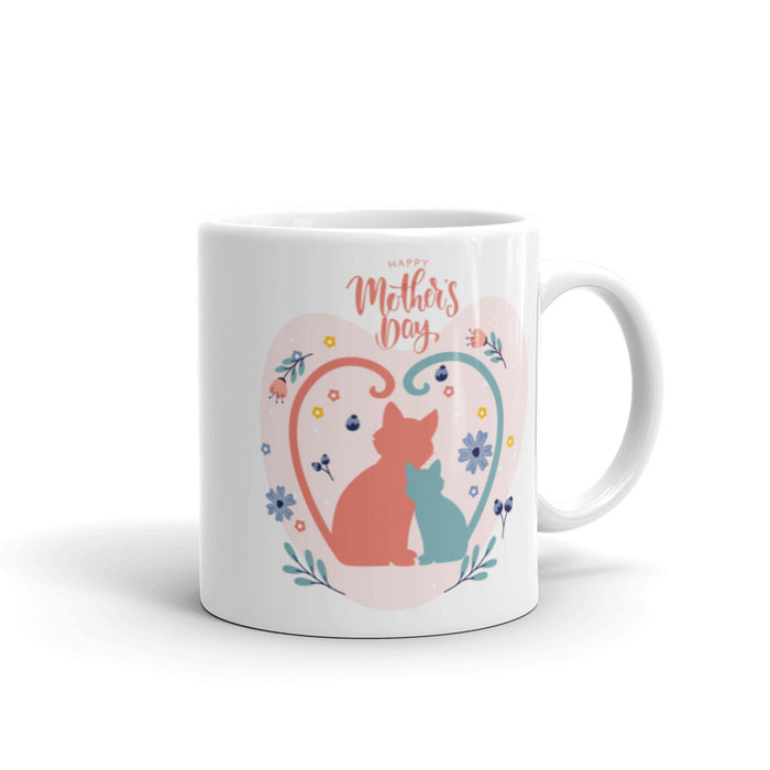 Mother's Day Cat Defined Heart Mug
