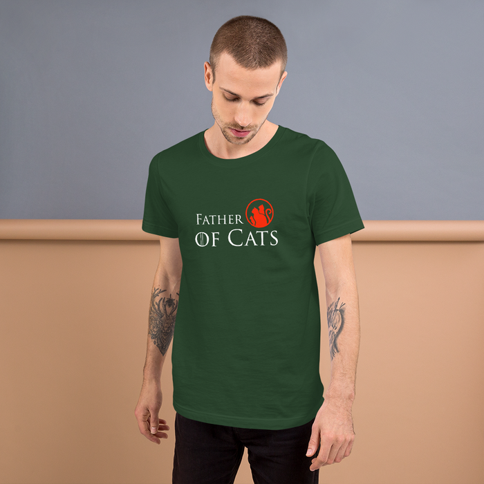 Father of Cats Tee - White Lettering