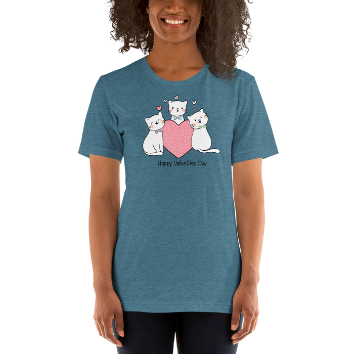 Kitties in Ties Valentine Tee-HappyFriendy