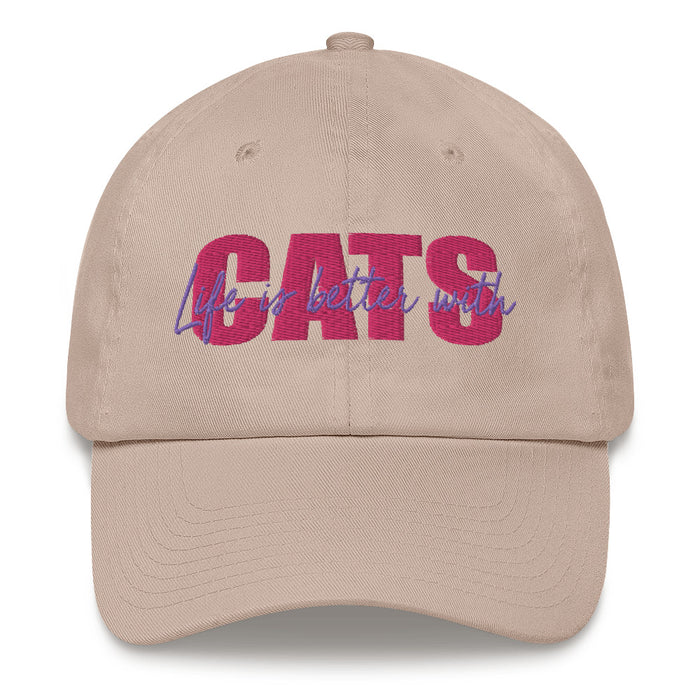LIFE IS BETTER WITH CATS PINK HAT