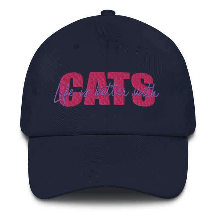 Pink Life is Better with Cats Hat-HappyFriendy