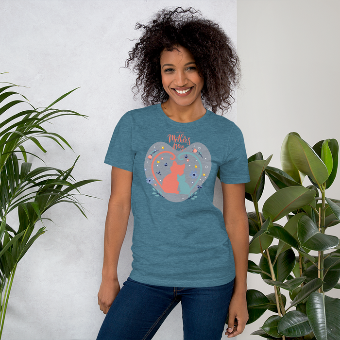 Mother's Day Cat Tee-HappyFriendy