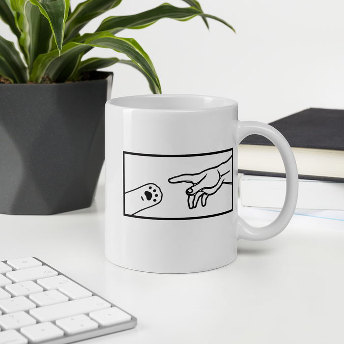 The Creation of Cat Square Box Mug