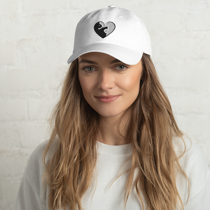 Cat Yin Yang Heart Hat-HappyFriendy