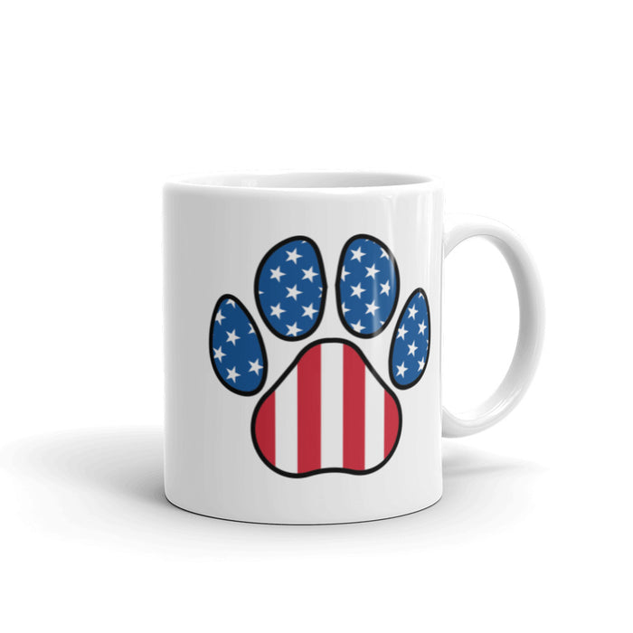 Stripes and Stars Cat US Independence Mug