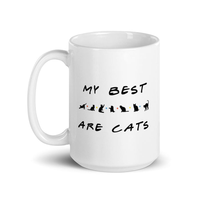 My Best Friends Are Cats Mug - Black Lettering