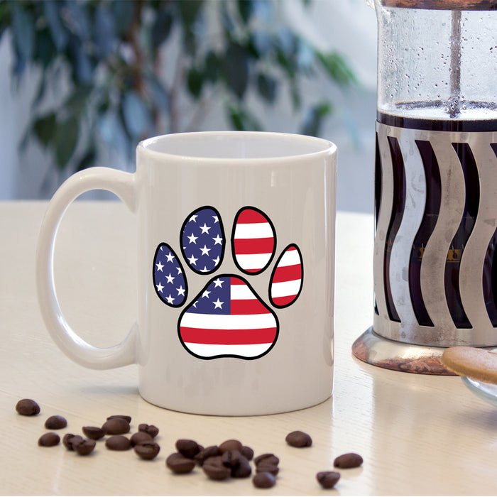American Independence Cat Paw Mug