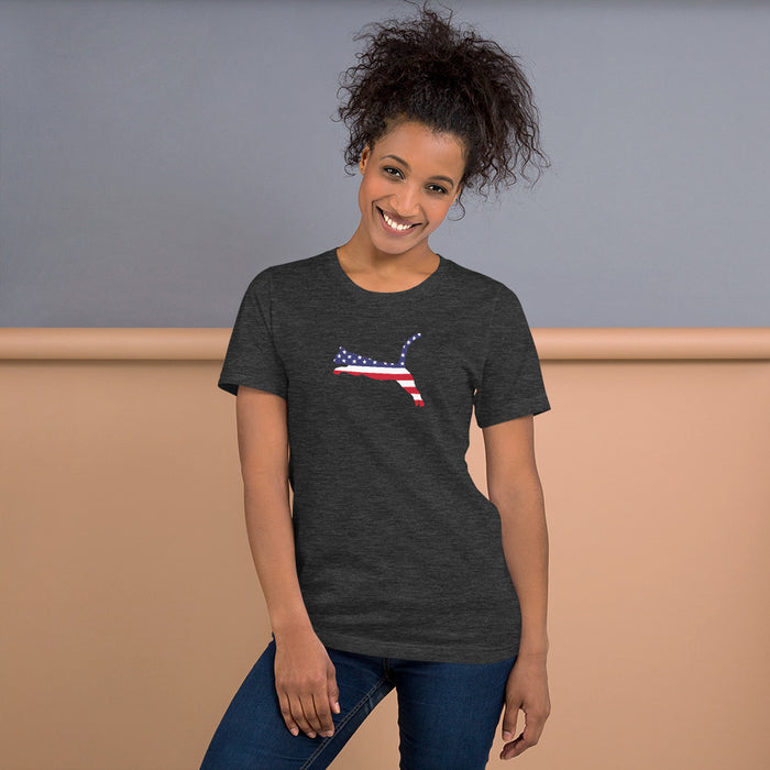 US Independence Jumping Cat Tee