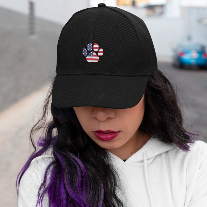 US Flag Cat Paw Hat