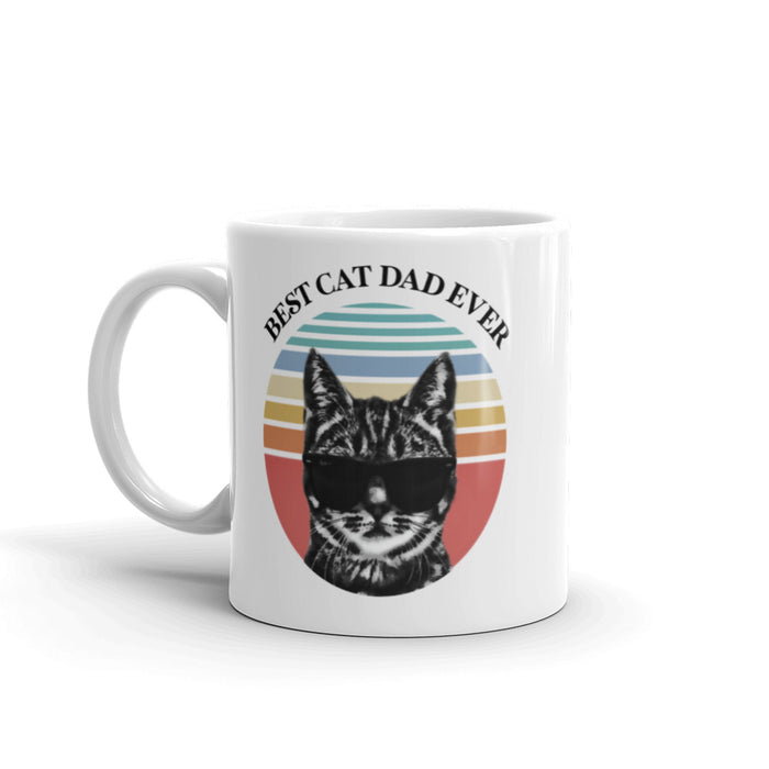 Best Cat Dad Ever Mug - Multicolor Sunset