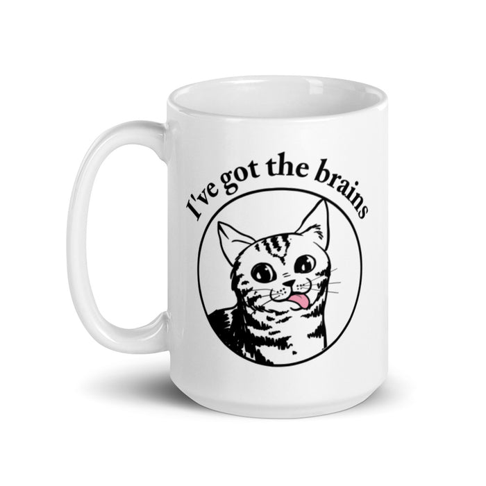 I've Got All the Brains Pink Cat Tongue Mug