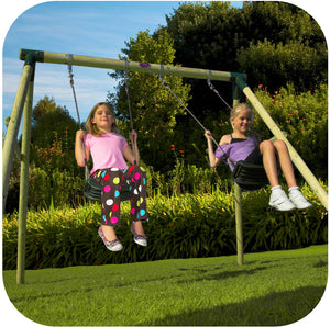 Plum Marmoset Wooden Swing Set