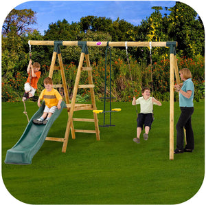 Plum® Meerkat Wooden Swing Set