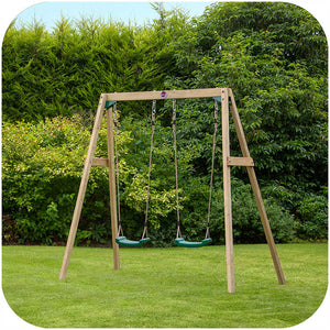 Plum® Double Wooden Swing Set