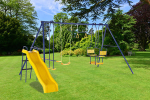 Plum 5 Unit Metal Swing with Slide