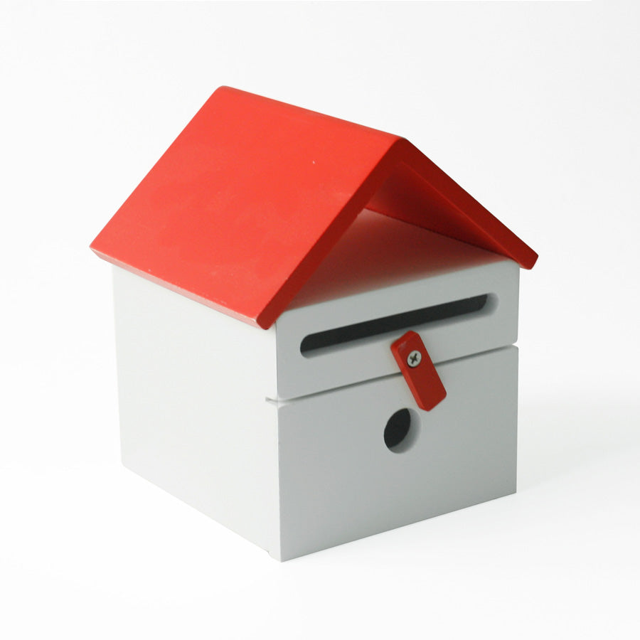 Cubby House Wooden Mail Box - Red