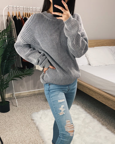Charcoal Gray Vintage Washed Sweater
