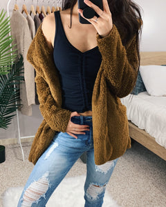 Brown Light Fluffy Teddy Jacket