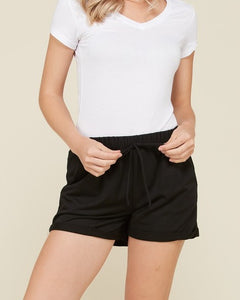 Sami - Black French Terry Shorts
