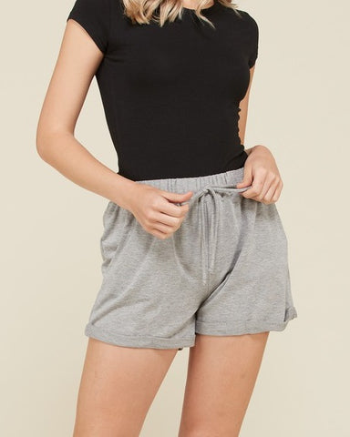 Sami - Light Gray French Terry Shorts