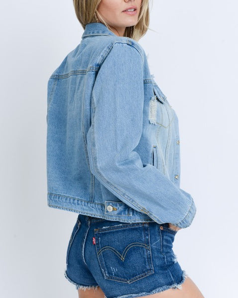Harper Light Blue Denim Jacket