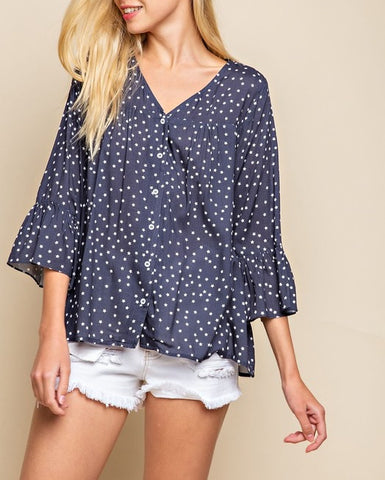 Indigo Star Blouse