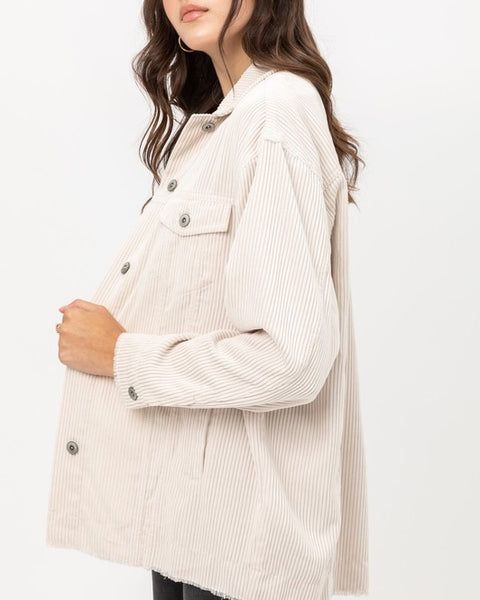 Dakota Light Beige Corduroy Jacket