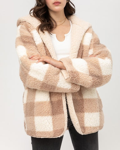 Chloe Tan Reversible Teddy Jacket