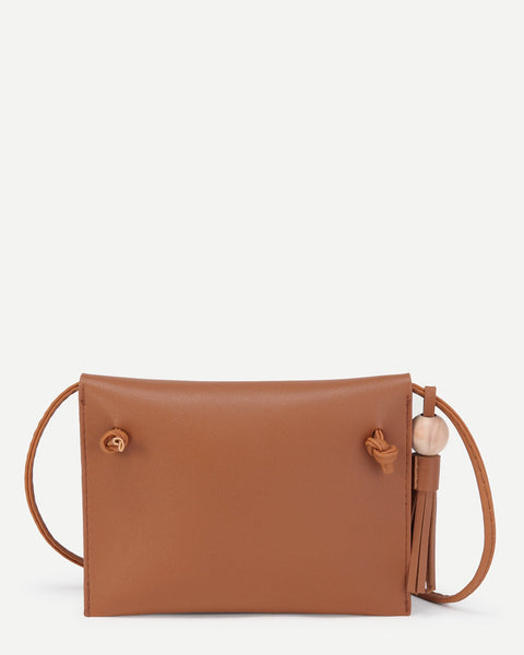 Florence - Brown Vegan Leather Crossbody Bag