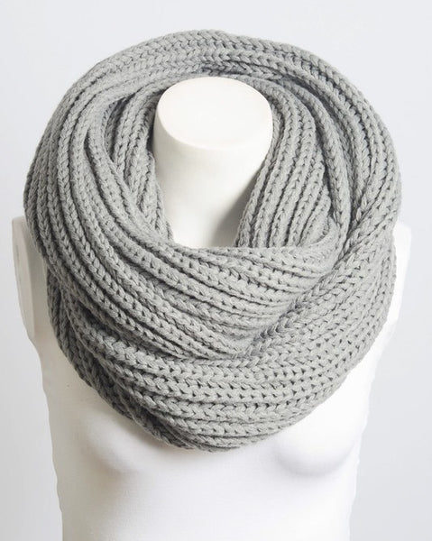 Boston - Gray Infinity Scarf