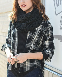 Boston - Black Infinity Scarf