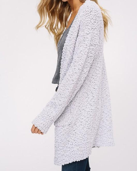 Jennah - Light Gray Cardigan