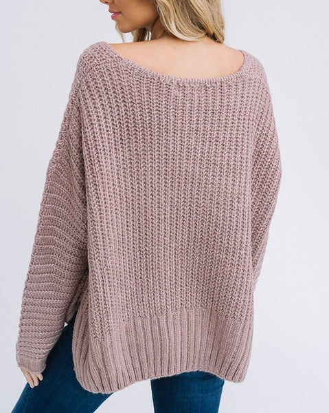 Brooklyn - Mocha Sweater