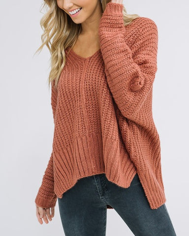 Brooklyn - Terracotta Sweater