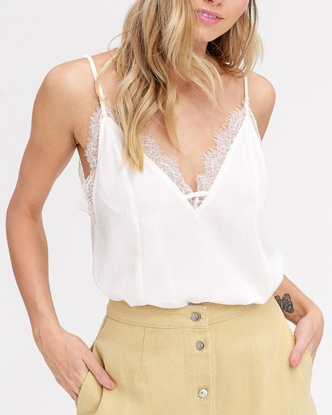 Cream Lace Cami