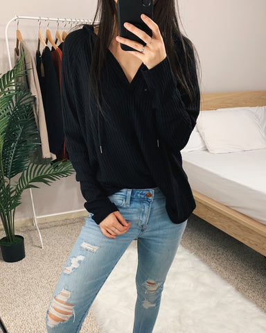 Riley - Black Knit Sweater