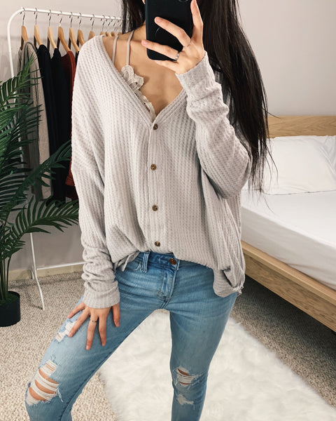 Vanessa - Light Lilac Oversized Thermal Top