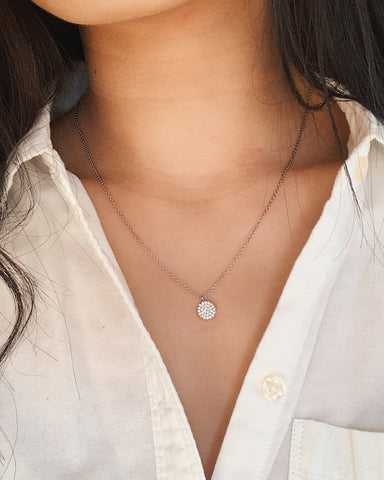White Gold Filled Dainty Necklace