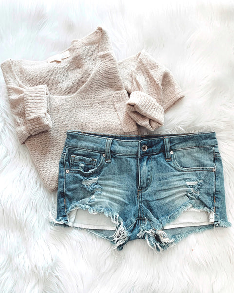 Medium Distressed Denim Short