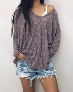 Rachel - Oversized Dusty Purple Top