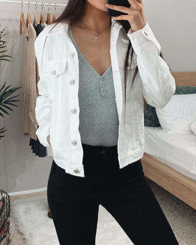 Harper White Denim Jacket