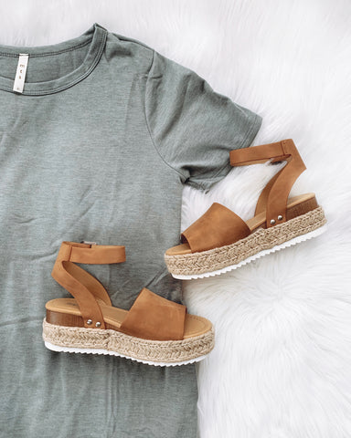 Kendra Tan Platform Sandals